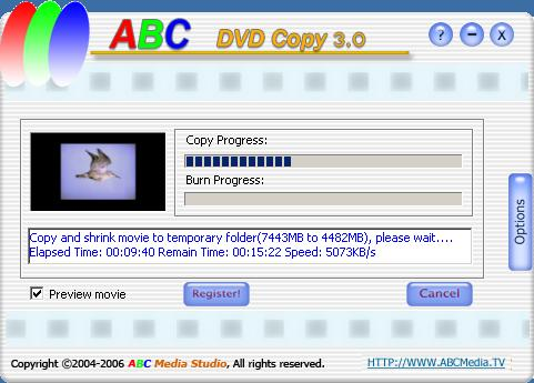 Click to view ABC DVD Copy 3.0 screenshot